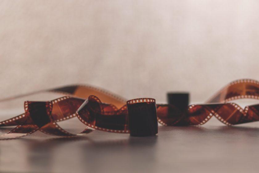 Eine alte Filmrolle